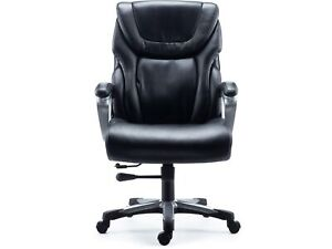 Myofficeinnovations Bonded Leather Big Tall Managers Chair Black 2715730
