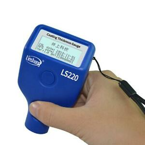 Paint Coating Thickness Tester 0 2000 m 0 1 m Fe Nfe Probe Gauge Ls220 For Car