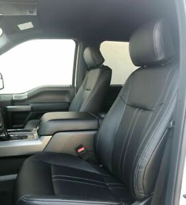 2018 Ford F 150 Xlt Supercrew Black Leather Seat Covers Lariat Factory Style