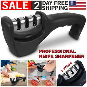 3 Stage Knife Sharpener Ceramic Tungsten Kitchen Knives Blades Sharpening Tool