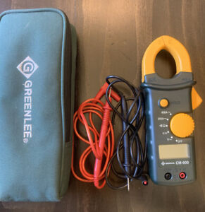 Greenlee Instruments Cm 600 Ac Clamp Meter With Leads