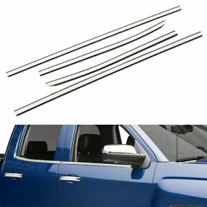 Fit 2014 2018 Chevy Silverado Gmc Sierra 1500 Double Cab Stainless Window Sill