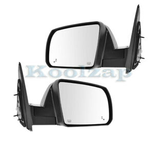 For 14 20 Tundra Limited Rear View Mirror Power Folding W Blind Spot Set Pair