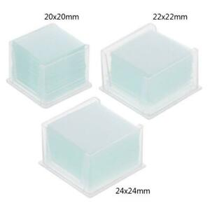 100pcs Clear Square Glass Slides Coverslips Coverslides For Microscope Optical