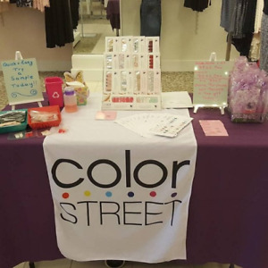 Color Street Table Runner Banner To Match Your Color Street Business Cards