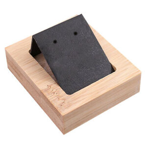 1 Pair Earring Card Holder With Tray For Jewelry Accessory Display Black