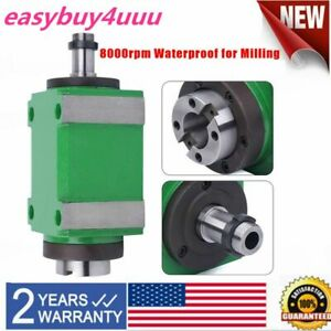 1 5kw 8000rpm Bt30 Power Head Spindle Unit Cnc Mechanical Milling Drilling New