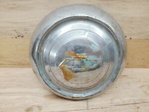 Vintage 1940 1950 S Chevy Chevrolet Baby Moon Dog Dish Hubcap 10 Chrome Hot Rod