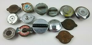 Vintage Lot Of 14 Various Gas Radiator Caps