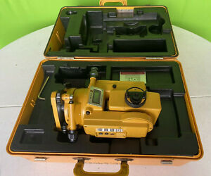 Topcon Gts 3b Theodolite Total Station Surveying Equipment W Case