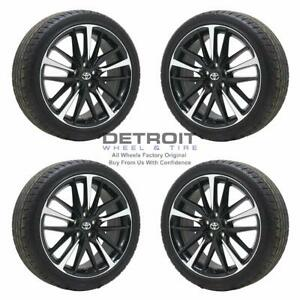 19 Toyota Camry Machined Black Wheels Rims Tires Oem Set 4 2018 2019 75222