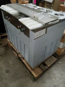 New Cbjf 2d5c Dual Pan Rolled Ice Cream Frying Machine W 5 Topping Tanks