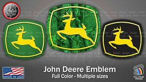 John Deere Decal Die cut Fits On Window Truck Tractor Lawn Mover Car Wall Laptop
