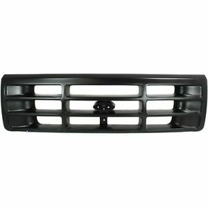 New Matte Black Grille For Ford F 150 F 250 F 350 Bronco Fo1200172 Ships Today