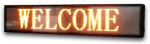 Signtronix Yellow Led Programmable Outdoor Sign 1 Ft High X 8 Ft Wide