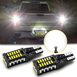 White Canbus 921 Led Backup Reverse Light Bulbs For Chevy Silverado 2014 2019 20