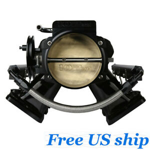 102mm Black Ls1 Intake Manifold throttle Body Ls2 Ls6 Sheet Metal Al Fabricated