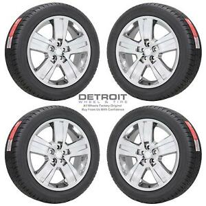 20 Jeep Liberty Pvd Bright Chrome Wheels Rims Tires Oem Set 4 2008 2012
