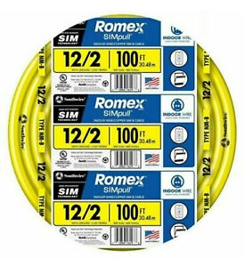 12 2 W ground Romex Indoor Electrical Wire 100 Feet all Lengths Available