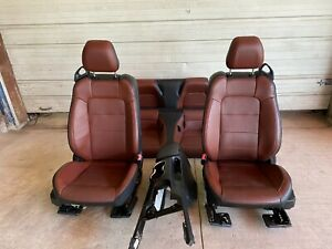 2015 2016 2017 Ford Mustang Gt Convertible Brown Black Leather Seats Console