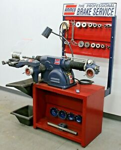 Nice Ammco 4100b Disc Drum Brake Lathe W Bench And Adapter Kit