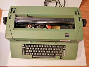Great Vintage 70 s Green Color Rare Ibm Selectric Ii 2 Correcting Typewritter