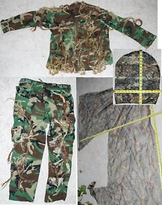 Camouflage DIY Ghillie Suit For Hunting Paintball Airsoft Camo *Home Made* SM MD $19.99