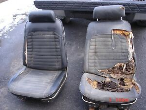 1969 1970 1971 1972 Gto 442 Gs Chevelle Gp Black Bucket Seats Tracks One Power