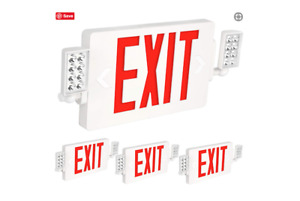 Exit Sign With Emergency Lights Hykolity Ultra Slim Led Signs For Business Door