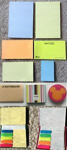 New Self stick Post it Sticky Notes Tags Flag Pocket Book Memo Disney Mickey Lot
