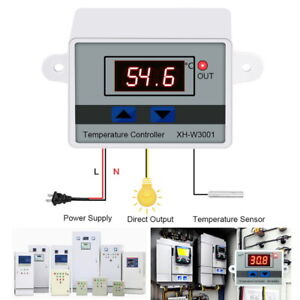 Led Temperature Controller 220v 12v 10a Thermostat Switch Controller