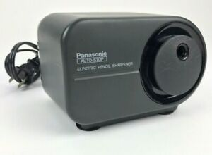 Panasonic Kp 350 Auto stop Electric Pencil Sharpener Black Tested Works Vintage