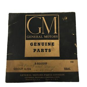 Vintage 1954 1955 Gm Pontiac Oil Pump Transmission Seal Unit Kit 5 8615318