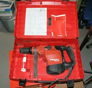 Hilti Te76 Hammer Drill Chipping Hammer With 8 Bits And Case