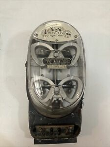 Vintage Two Element Watthour Reader Electrical Meter General Electric Steampunk