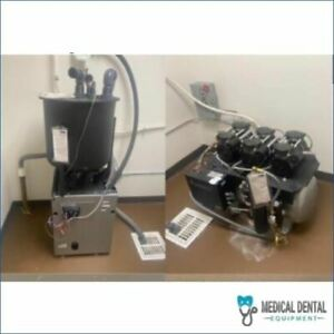 Midmark Powervac Dry System Dental Vacuum And Oil less Air Compressor