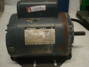 Westinghouse 1 2hp Ac Electric Motor 1425 Rpm D56 Frame 115 230v Single Phase