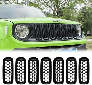 Front Grille Insert Mesh Grill Guard Cover Trim Fits For Jeep Renegade 2015 2018