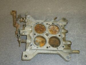 Holley 4 barrel Carburetor Carb Baseplate Vacuum Secondary 600 Cfm Chevy Linkage