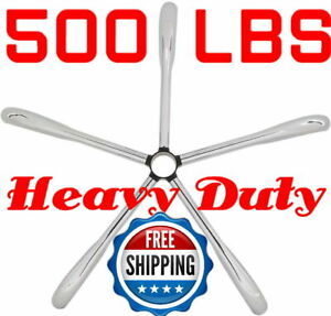 500 Lb Heavy Duty Metal Office Chair Base Replacement Chrome Steel 28 Standard