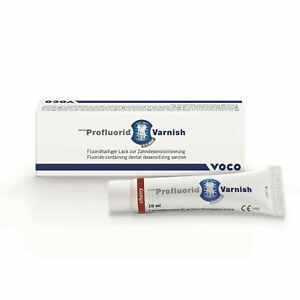 Pack Of 5 Voco Profluorid Fluoride containing Desensitising Varnish 10ml Tube