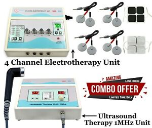 Ultrasound Therapy 1mhz Machine Electrotherapy 4 Channel Pain Relief Combo Unit