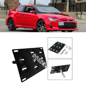 Bumper Tow Hook Hole Cover License Plate Bracket Mount Holder For 14 16 Scion Tc