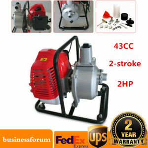 Gas Powered Water Pump Flood Irrigation 2 stroke 2hp Water Transfer Pump 43cc Us
