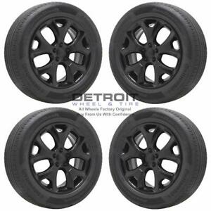 18 Jeep Compass Gloss Black Wheels Rims Tires Oem Set 4 2018 2020 9191