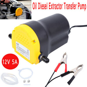 12v 5a Oil Diesel Fluid Extractor Electric Transfer Scavenge Suction Pump Us