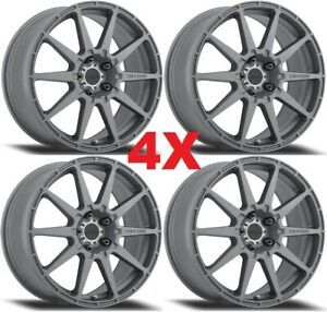 18 Method Rally Wheels Rims Titanium 5x100 Gunmetal