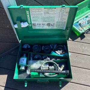 Nice Greenlee 7310sb 4 Conduit Hydraulic Knockout Punch Set 767 Pump 746 R