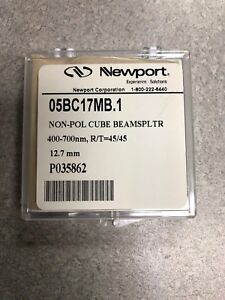 Newport 05bc17mb 1 Non pol Cube Beam Splitter 12 7 Mm