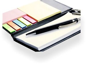 Memo Note Pad Memo Note Book With Sticky Notes Clip Holder In Diary Style